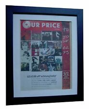 U2+Achtung Baby+POSTER+AD+RARE ORIGINAL 1992+QUALITY FRAMED+EXPRESS GLOBAL SHIP