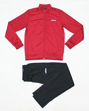 NWT ADIDAS Men's Black Red Maroon Warm-Up Track Suit Set Jacket Pants Joggers