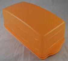 Tupperware J 29 Junge Welle Kastenkuchenbehälter Kuchenbehälter Orange Neu OVP