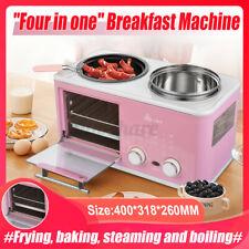 220V 3 in 1 Multifunctional Breakfast Machine Toaster Mini Sandwich Machine Home