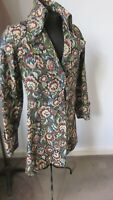 """1970,s orig.vint.'Kinks """"style tapestry jacket with fab buttons.34ins bust."""