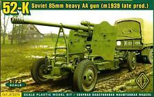 Ace Models 1/72 Soviet 52K 85mm HEAVY ANTI-AIRCRAFT GUN M.1939 LATE PRODUCTION