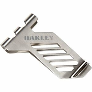 Oakley Men's Metalworks Stainless Steel Money Clip - Antique Silver