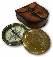 Antique Brass Robert Frost Vintage Poem Compass- new year Vintage compass