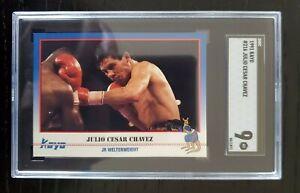 1991 Kayo Boxing #216 Julio Cesar Chavez Low Pop Card SGC 9