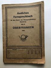 Oberfanken amtliches Fernsprechbuch, Oberfranken, Fernsprechbuch,