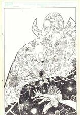 Avengers #11 p.21 - The Watcher & Hood Cosmic Splash '11 art by John Romita Jr.
