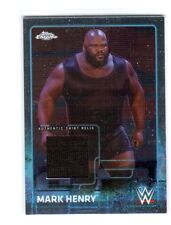 WWE Mark Henry 2015 Topps Chrome Event Used Shirt Relic Card Black