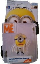 "DESPICABLE ME MINIONS BACK UP SINGER MINION POSEABLE 2"" ACTION FIGURE NEW IN BOX"