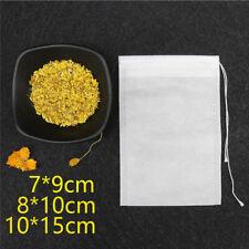 100 Pcs Cotton Muslin Drawstring Reusable Bags Bath Soap Herbs Tea Condiment UK