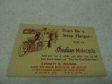 INDIAN NOS ORIGINAL ANTIQUE DEALER POSTCARD
