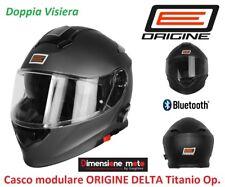 Casco Modulare doppia Visiera Bluetooth origine Delta Titanio Op. Taglia S 55/56