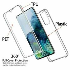 360 Case for Samsung Galaxy A20S Ultra Slim Shockproof Silicone Gel CLEAR Cover