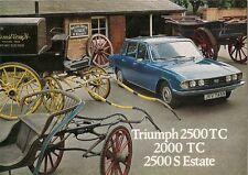 Triumph 2000 TC 2500 TC Saloon 2500 S Estate 1975-77 UK Market Sales Brochure