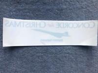 British Airways Concorde Christmas Sticker  Rare Free Shipping UK!