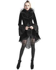 Punk Rave Jacket Tailcoat Womens Black Velvet Gothic VTG Victorian Frock Coat