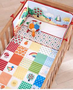 Mothercare Cot Bumper Set Little Bird Jools Rainbow Cot bed Nursery Bedding NEW