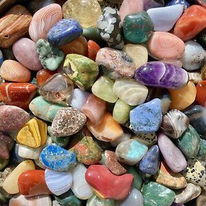 1lb JUMBO Lot Polished Rocks - Tumbled Stones Gemstone Mix - Healing and Reiki