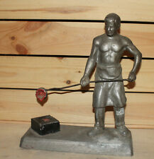 Vintage hand made metal figurine man smelter