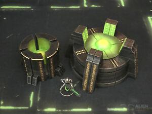 CC3D - Runic/ Necron Power Generator - Wargames Miniatures Scenery 40k 28mm 15mm