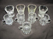 Federal Glass 2 Different Pairs of Shot Glasses and 6 Mini Shot Glass Mugs