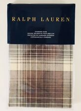 New Ralph Lauren Hoxton Jackson Standard Pillow Sham Cream & Grey Plaid 20�x28�