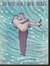 Wish That I Wish Tonight 1945 Barbara Stanwyck Dennis Morgan Christmas in Ct