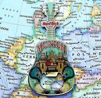 MUNICH MUNCHEN GERMANY 🇩🇪 Hard Rock Cafe ® Opener HRC METAL Magnet GUITAR V14