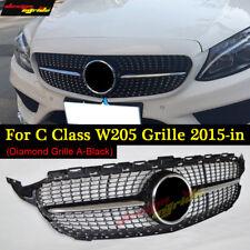 Diamond Black Grille For Mercedes Benz Sport C Class W205 2015 2018 C180 200 250