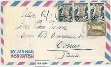 BIRDS Voltures - PERU - POSTAL HISTORY  -  AIRMAIL COVER to ITALY - 1949