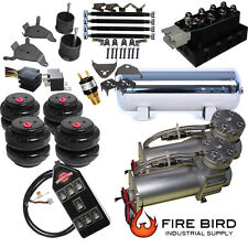 """Chevy S10 Air Kit Pewter 2500 Bags 3/8"""" Valve Black  7 Switch acc xzx"""