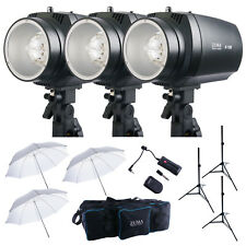 450W Strobe Flash 3PCS Kit Monolight Photography Lighting Photo Studio Carry Bag