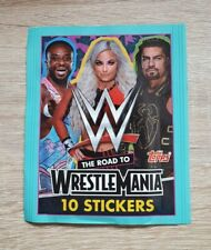 Topps 1 Tüte WWE Road to Wrestlemania Bustina Pochette Pack Panini Wrestling V4
