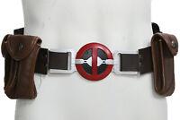 XCOSER Deadpool Belt with Metal Buckle+Pockets Movie Cosplay Costume Props