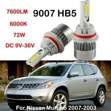 9007 HB5 LED Headlight Conversion Kit Bulbs For Nissan Murano 2007-2003 H/L Beam
