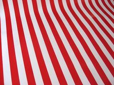 RED WHITE USA STRIPE FLAG AMERICA XMAS CANDY CANE OILCLOTH TABLECLOTH 48x108