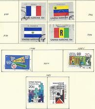 From Collection - 53 Different Stamps Issued by the United Nations (1977+)