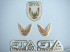 NEW 91-92 GTA Trans Am Emblem 5pc Set (WHITE)