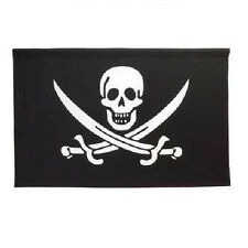 """NEW! Crossed-Blades 'Jolly Roger' Pirate Flag/Wall Banner (25"""" x 38"""")"""