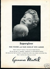 1960 Print Ad of Germaine Monteil Superglow Lumium