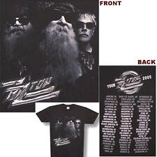Zz Top B&W Band Photo 2005 Tour Black T Shirt Small New