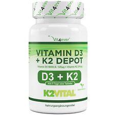 Vitamin D3 5000 IU & Vitamin K2 200mcg 180 Tabletten MK-7 Menachinon-7 D3 I.E.