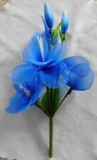 Bouquet of Artificial Blue Flowers and Buds (600mm high)