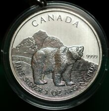 2011 Canadian $5.00 Grizzley Bear, 0.9999 SLV. 1oz.