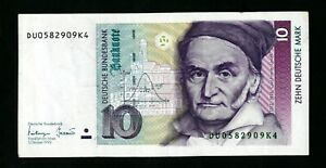 GERMANY  10 Mark 1993    VF used    see 2 scan  (520)