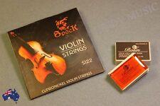 Rosin + SPOCK Violin String Set NEW