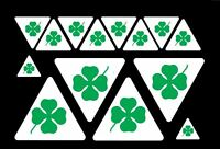 kit 14 Adesivi Stickers ALFA ROMEO Quadrifoglio Verde Green varie misure