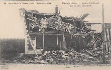 CPA GUERRE 14-18 WW1 MARNE MAURUPT-LE-MONTOIS maison bombardée