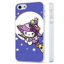 Hello Kitty Kitten Cute Witch WHITE PHONE CASE COVER fits iPHONE