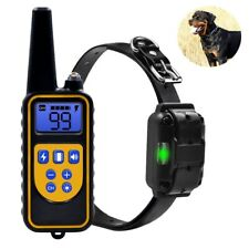 Waterproof Dog Training Electric Collar Rechargeable Remote Control 875 Yards US